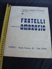 Brochure manubri accessori cicli Ambrosio 1934
