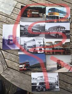 Rubbish Bus Photos Various Job Lot Of 10 Scotland England Wales Canada Etc
