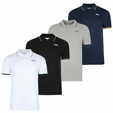 New Mens Ellesse Polo Shirt T-Shirt - Navy Blue Grey White Black Retro Vintage