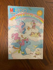 Vintage MY LITTLE PONY 100 Piece Puzzle Milton Bradley Candy Cane Ponies