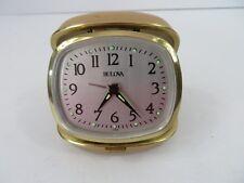 Vintage Bulova Folding Travel Alarm Clock Made In Japan #7675