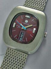 Tressa Laser beam 21 J. Automatic Men's Watch* Wine Red Dial*Retro vintage 70's