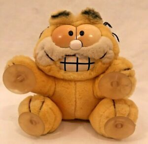 Vintage Garfield 1978 plush soft toy 'stuck on you' with suction caps
