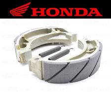 Set of (2) Honda Water Grooved FRONT Brake Shoes and Springs #43120-365-672