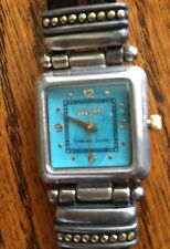 ECCLISSI STERLING SILVER WATCH/ TURQUOISE FACE-THIS IS A BEAUTY !