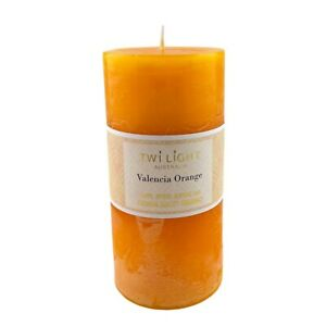 Scented Pillar Candle Valencia Orange Fragrance 6.8x14cm Orange Candles 76 Hours