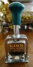 Lion Auto Automatic Number Stamp C-71 Numbering Stamp Made in Usa