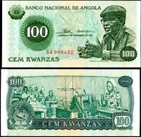 ANGOLA 100 KWANZAS 1976 P 111 AUNC ABOUT UNC