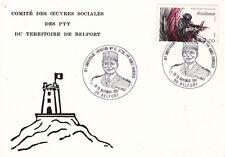 Carte 1er jour timbrée GUERRE 39-45 WW2 1984 résistance maquisard BELFORT