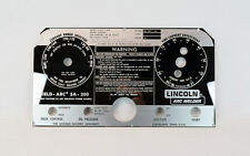 Lincoln SA-200 Mirrored Stainless Steel Faceplate Blackface L-5750 BW681