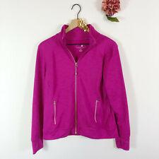 TANGERINE Athleta Women's Zip Up Jacket Workout Long Sleeve Fuchsia Pink Size L