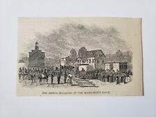 Hagerstown Depot Confederate Rebels Pillaging 1864 Civil War Sketch Print