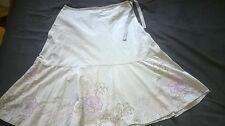 Monsoon White Embroidered Skirt size 16
