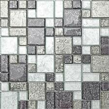1 SQ M Black & Silver Hong Kong Foil Glass Mosaic Bathroom Wall Tiles MT0044
