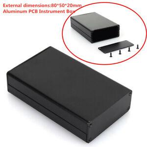 Extruded Aluminum Enclosure Electronic Project  Instrument Box DIY 80x50x20mm