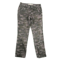 J.Crew Womens Classic Twill Broken In Chino Pants Camo City Fit Cotton Size 4