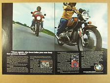 1977 BMW R100S & R100/7 Motorcycles color photo vintage print Ad