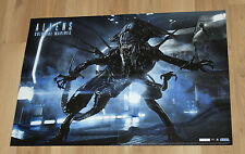 Aliens Colonial Marines rare double sided Poster 58x42cm Xbox 360 Playstation 3