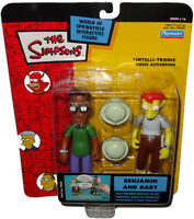 Simpsons Benjamin & Gary Action Figures WOS Intelli-Tronic MOC Series 16 Nerds!