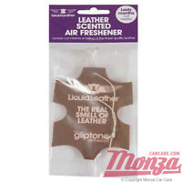 1x Gliptone Leather Scented Smell Hanging Air Freshener *CLASSIC LEATHER SCENT*