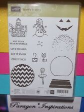 NEW Stampin Up SPARKLY SEASON Photopolymer Stamps Christmas Snowglobe Holidays