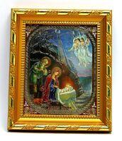 kone Geburt Christus geweiht икона Рождество Христово освящена 14,5x12,5x1,7 см
