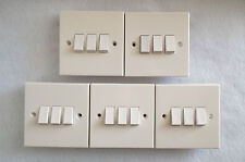 DEAL OF FIVE 3 GANG 2 WAY SWITCHES - STANDARD WHITE TRIPLE SWITCH BY BG. SQUARE