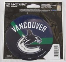 NHL 4 inch Auto Magnet Vancouver Canucks Logo on Round Stick Style