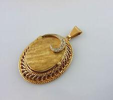 feines hochwertiges Medaillon Gold 585 mit Diamanten (20229)