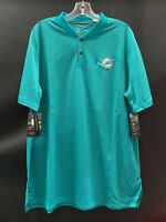 MIAMI DOLPHINS TEAM ISSUED NEW TEAL DRI-FIT NIKE COACHES SIDELINE SHIRT SZ-XL