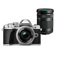 Olympus OM-D E-M10 Mark III with 14-42 EZ Lens and 40-150mm R Lens - Silver