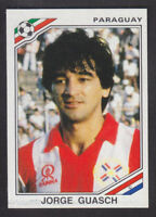 Panini - Mexico 86 World Cup - # 155 Jorge Guasch - Paraguay