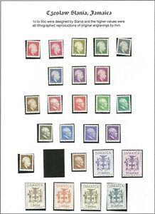M/ 1987-1997 Jamaica; Slania; Jamaican politicians and coat of arms; MNH;
