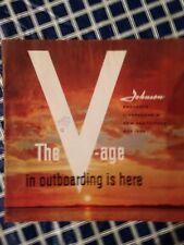 1958 Johnson Full Line 'prestige' Brochure!  ALL Models From 3 To super 50