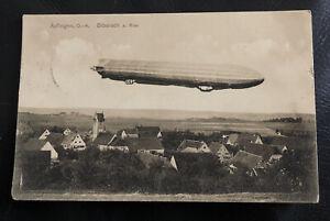 Ak Postkarte - Äpfingen - Biberach Riss Ansicht mit Zeppelin 1915