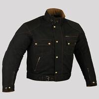 Men's Armoured Waterproof Cordura Textile Black Motorcycle Motorbike Jacket-2XL