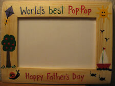 WORLD'S BEST POP POP - fathers day Dad Grandpa Grandfather photo picture frame