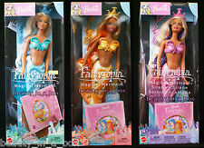 Magical Mermaid Barbie Doll Christie Kayla Mint Blue Yellow Fairytopia AA Lot3G""