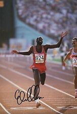 Edwin Moses American Track & Field Athlete  Hand Signed Photo 400 m Hurdles USA