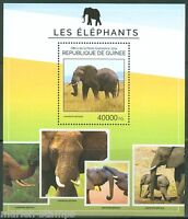 GUINEA 2014  ELEPHANTS SOUVENIR SHEET MINT NH