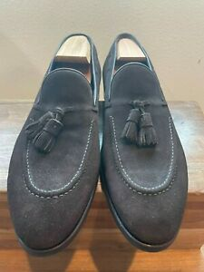NIB Carmina Handmade Brown Suede Tassel Loafers UK10.5/US11.5 80289
