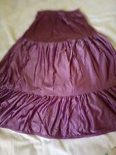 "Vtg Wonder Maid S Purple Nylon Half Slip 3 Tiers Bottom Ruffle 24"" Waist 27""Long"