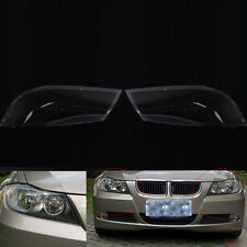 For BMW E90/E91 04-07 2PCS Clear Lens Cover Front Car Headlight Polycarbonate H