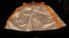 SERGIO MARTINEZ WELT & MID WT CHAMP AUTOGRAPHED SIGNED BOXING TITLE TRUNKS
