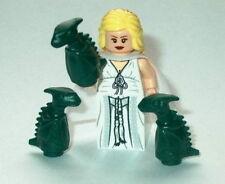 T.V. Lego Game of Thrones  Daenerys Targaryen w/Dragons Custom NEW Genuine Lego