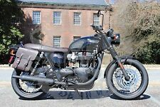 Triumph Bonneville T100 T120 RIGHT SIDE SOLO BAG Black Brown -TR01 BAD&G CustomS