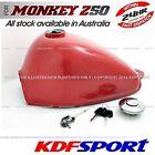KDF FUEL TANK RED COLOR BIKE CAP TAP 50 PARTS PETROL FOR HONDA MONKEY Z50 Z50J