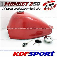 KDF FUEL TANK RED COLOR BIKE CAP TAP 50 PARTS PETROL FOR HONDA MONKEY Z50 Z50J