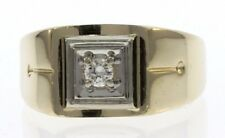 Men's Genuine Diamond Solitaire Ring in 14 Kt Yellow Gold