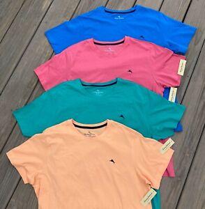 Tommy Bahama Men's Lightweight Crew Neck T Shirt S - XL Blue Green Red Grey